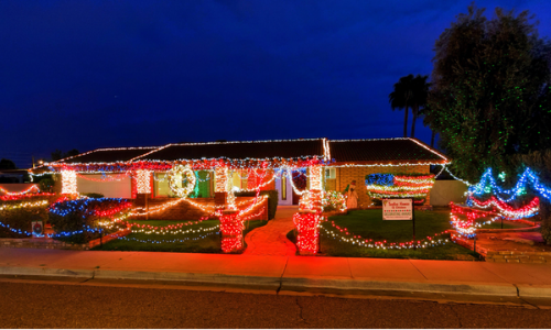 Best Holiday Light Show Map of Christmas Lights Phoenix
